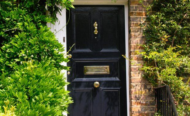 front door in the sun